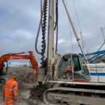 Concrete piling at Anaerobic Digestion Plant build