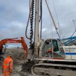 Concrete piling at Anaerobic Digestion Plant build